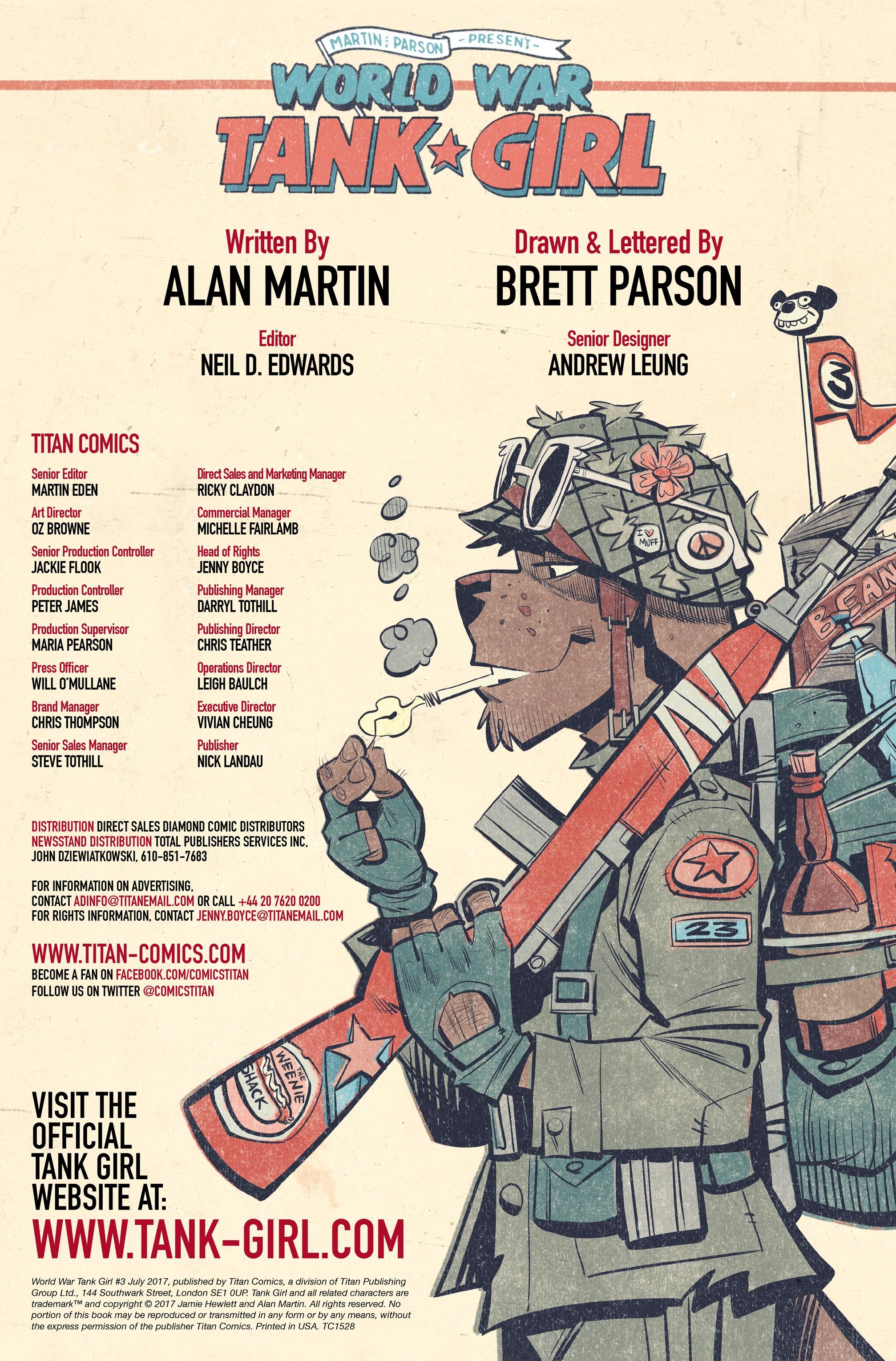 Read online Tank Girl: World War Tank Girl comic -  Issue #3 - 2