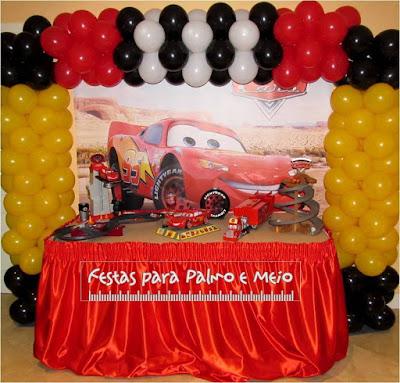 Decoração Festa Carrros Faísca Mcqueen