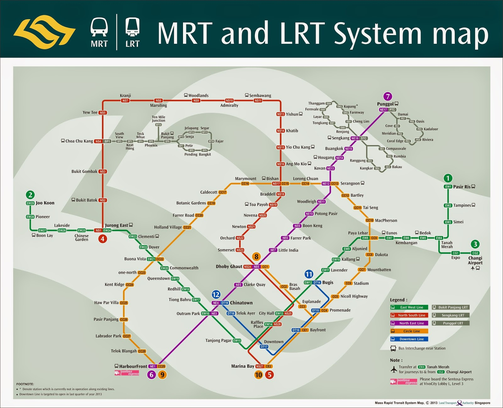 Singapore Subway Map 2014.Knowing Your Mrt Stations Pay Higher Capital Gains And Rental