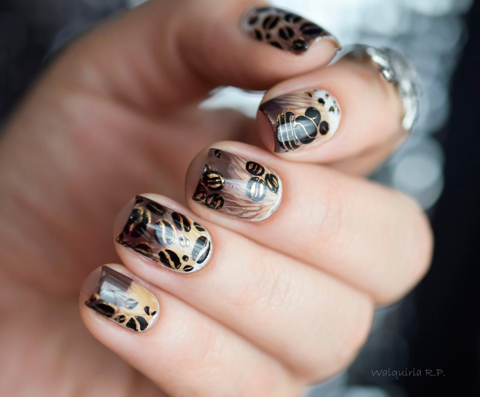 Walquiria r p coffee nails com decor unhas for Decor unhas