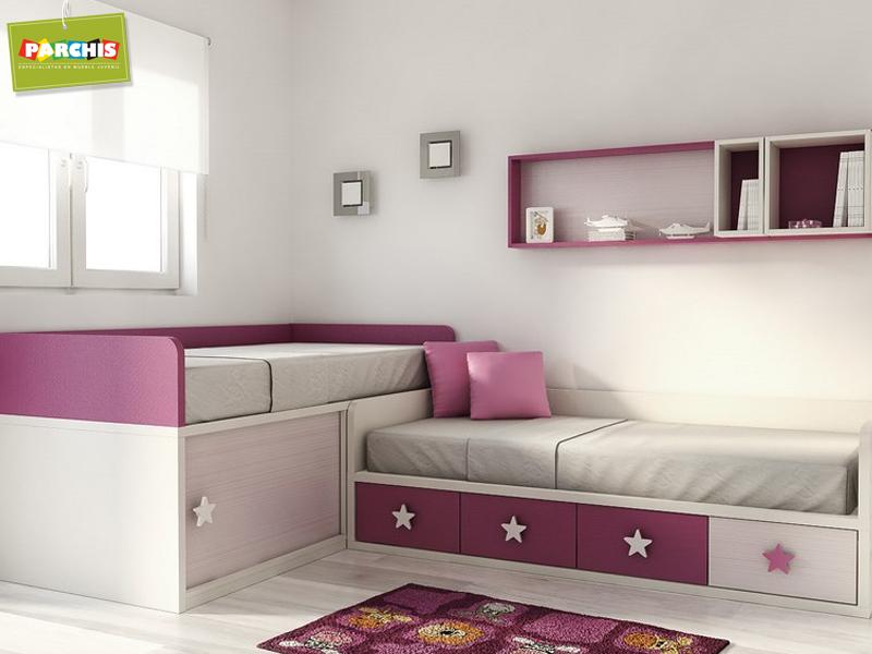 Muebles juveniles dormitorios infantiles y habitaciones - Habitaciones con tres camas ...