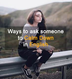 calm down in English