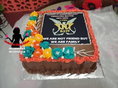 Kue Happy Anniversary ke 6 buat TRIMATRA BATTIX