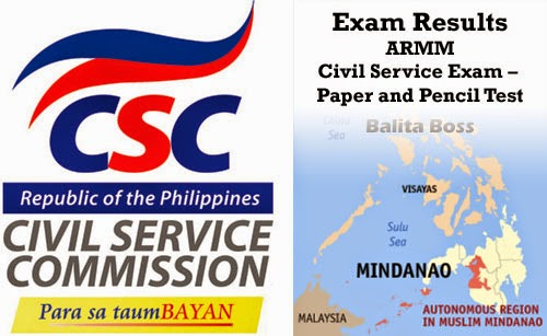 ARMM - Civil Service Exam Results