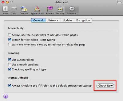 Cách thiết lập Firefox làm trình duyệt mặc định