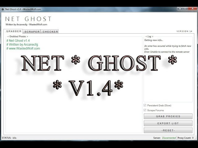 download,Net Ghost V1.4 ,Proxy,For,free,Scraper,Checker