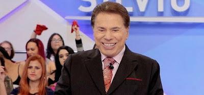 Silvio Santos durante seu programa no SBT