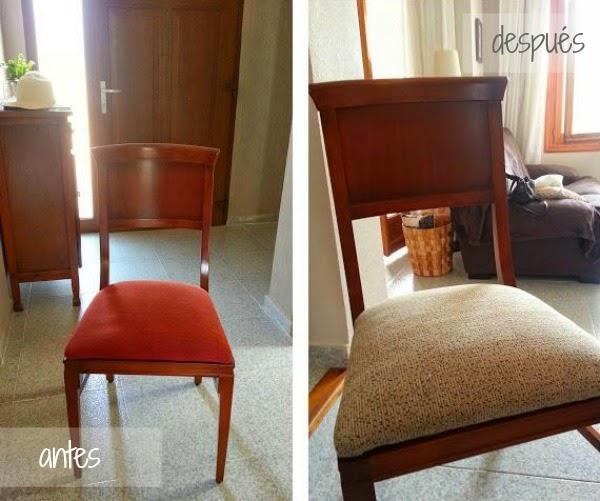 Tapizar las sillas por fin en casa for Telas para tapizar sillas comedor