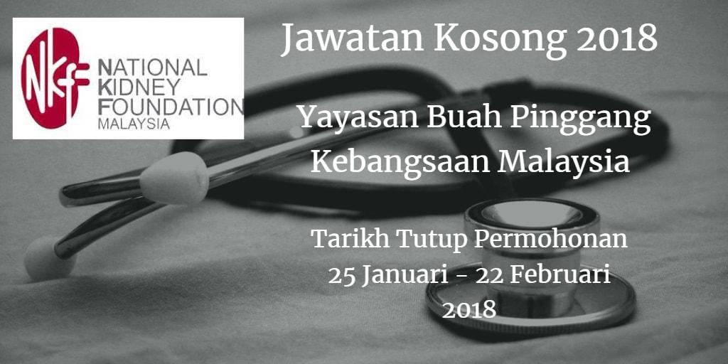 Jawatan Kosong NKF 25 Januari - 22 Februari 2018