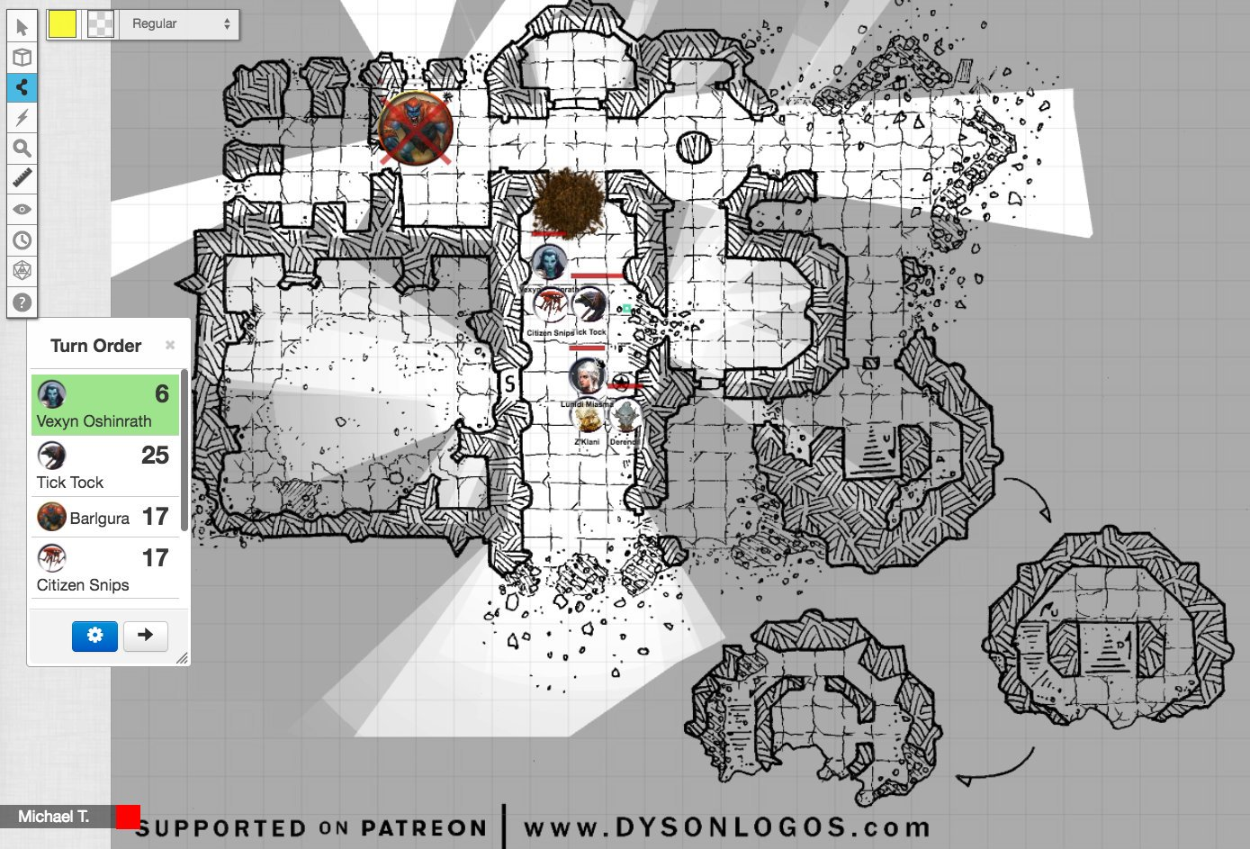 Using Dyson's Dodecahedron maps in Roll20