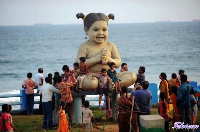 Beautiful Indian Child Statue