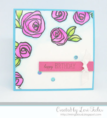 Bright Bamboo Rose Birthday card-designed by Lori Tecler/Inking Aloud-stamps from Altenew