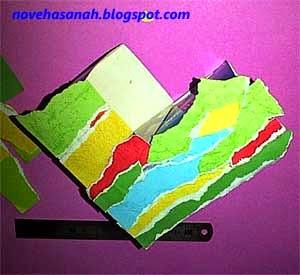 langkah pembuatan prakarya sederhana tempat pensil dari bekas kotak teh celup