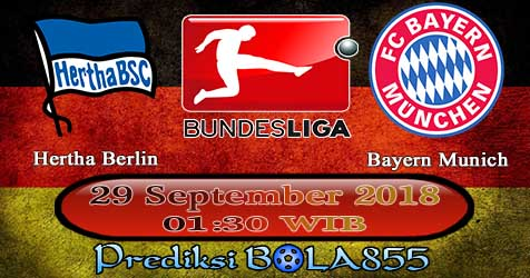 Prediksi Bola855 Hertha Berlin vs Bayern Munich 29 September 2018