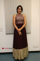 Actress Regina Candra Latest Stills in Maroon Long Dress at Saravanan Irukka Bayamaen Movie Success Meet .COM 0012.jpg