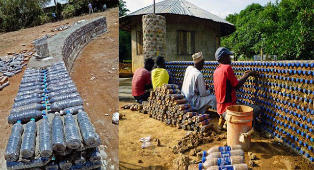Plastic bottles Turns into Construction Materials