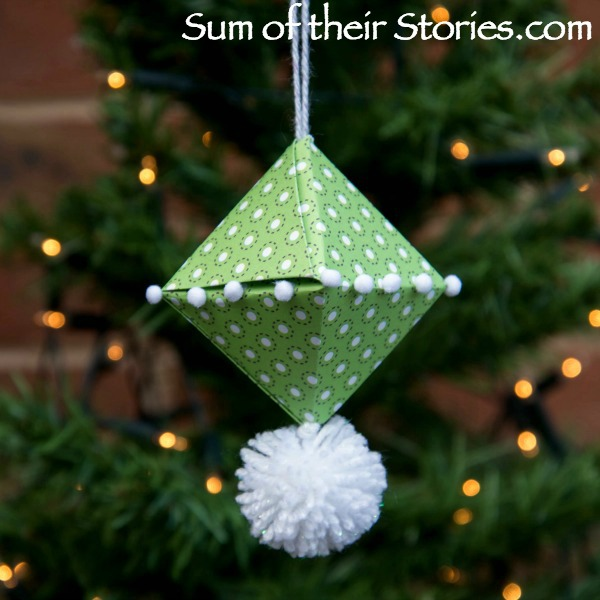 Origami Christmas Tree Ornament