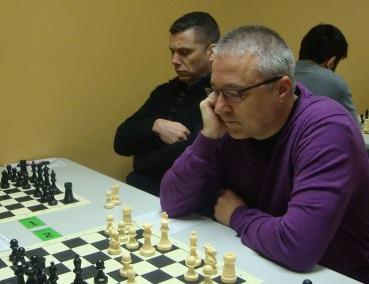 Los ajedrecistas del Granollers Antonio García Cano y José Manuel Paniagua en 2015