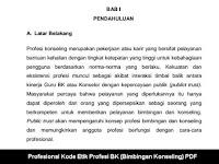 Profesional Kode Etik Profesi BK (Bimbingan Konseling) PDF