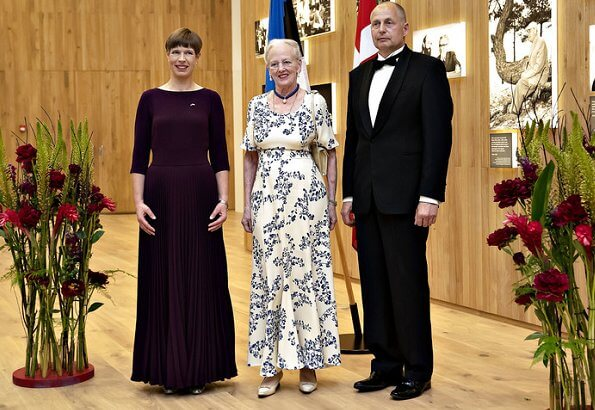 The Queen attended a Gala Dinner hosted by President Kaljulaid