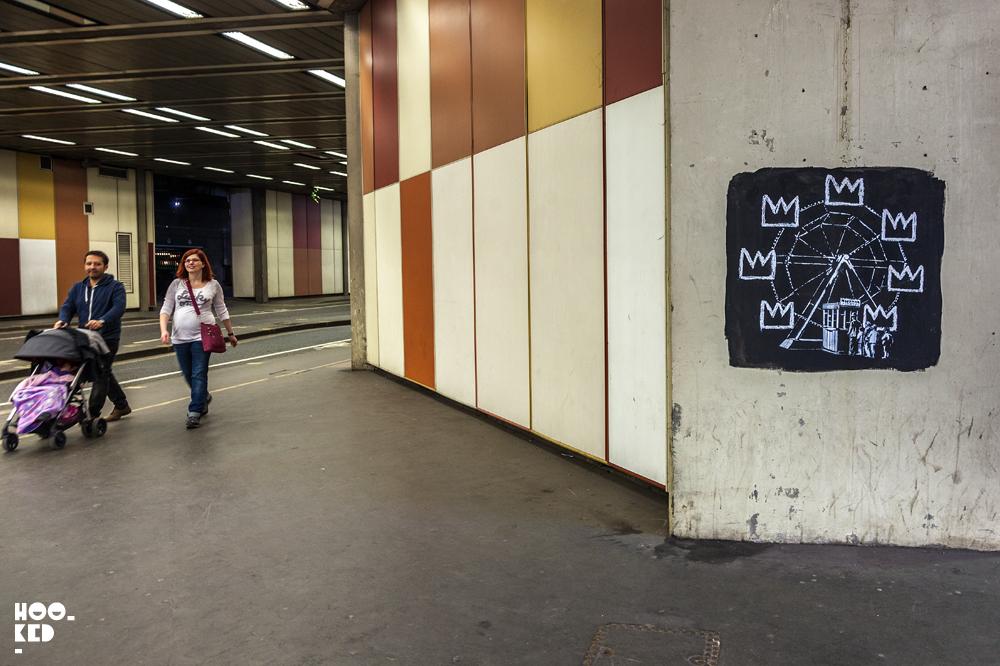 London Banksy Street Art at the Barbican Centre