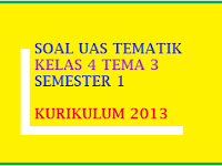 Soal UAS Tematik Kelas 4 Tema 3 Semester 1