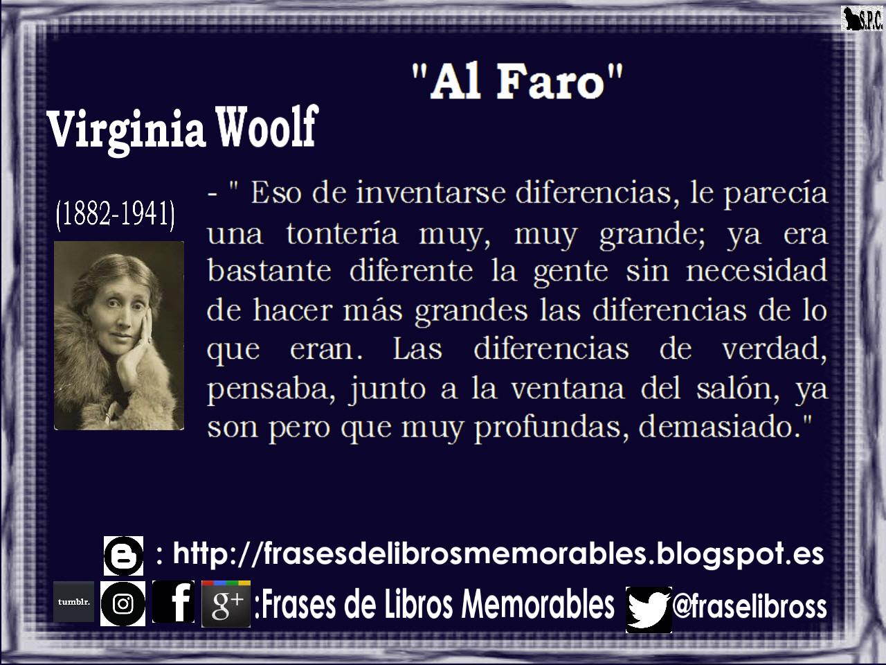 Frases De Libros Memorables Al Faro Virginia Woolf 1927