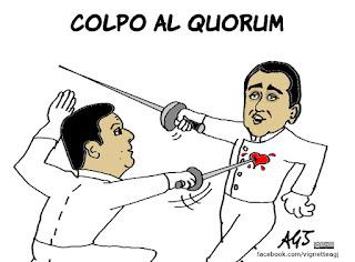 quorum, referendum, trivelle, renzi, di maio, vignetta, satira