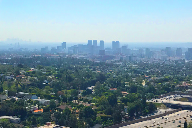 View of LA from J. Paul Getty Museum