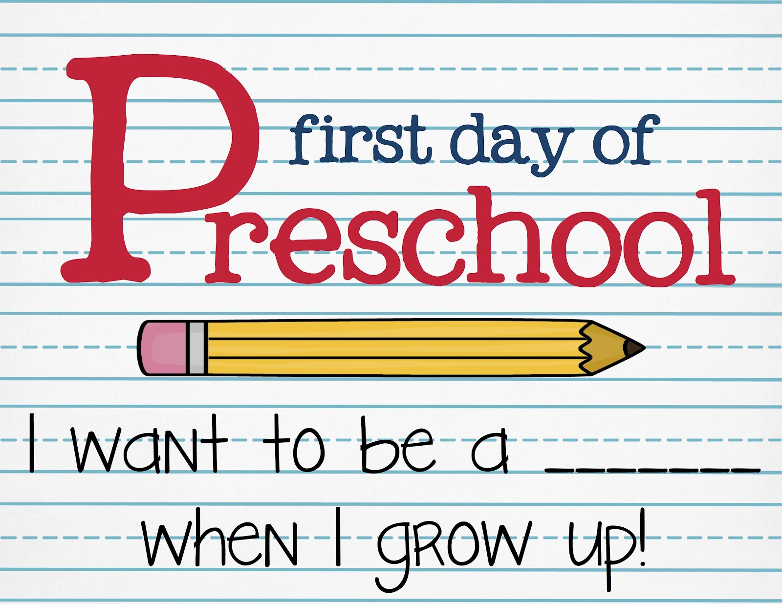 First Day School Sign. First Day Of Preschool Printables. View ...