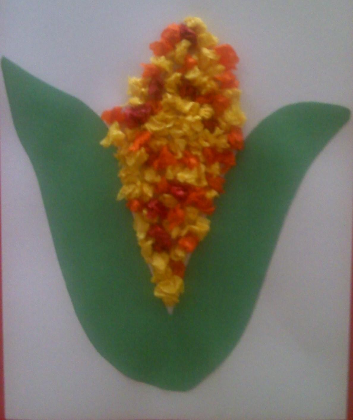 Crafts For Preschoolers Tissue Paper Indian Corn