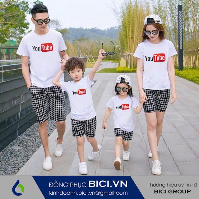 mẫu áo đồng phục gia đình 3