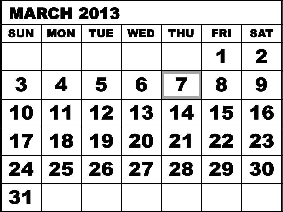 Thursday March 7 2013