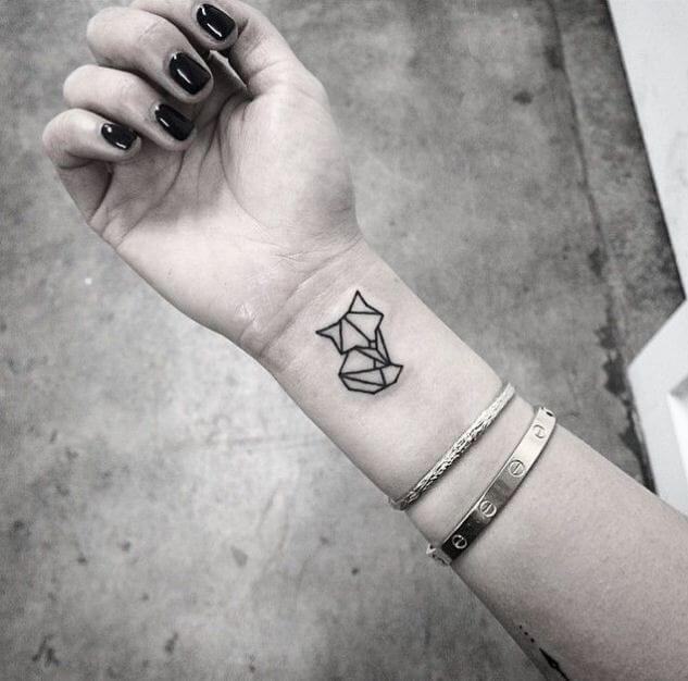 minimalist Wolf Tattoos