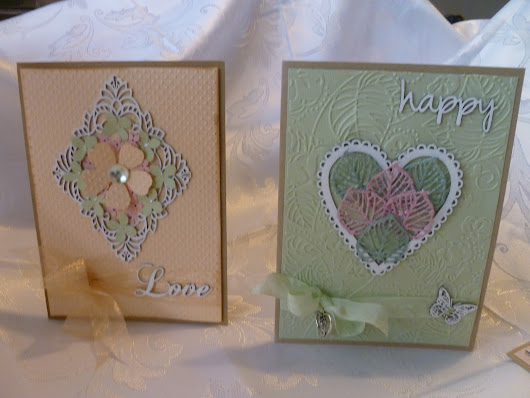 Four embossed cards, by Miriam