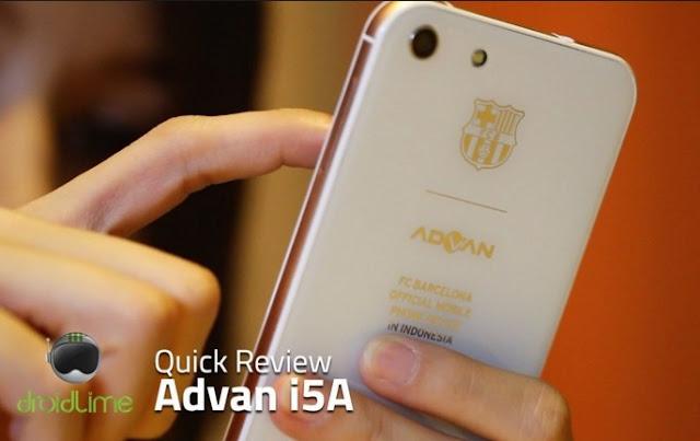 Harga HP Android Advan Barca i5A Tahun 2016 Lengkap Dengan Spesifikasi Ram 2GB 4G LTE