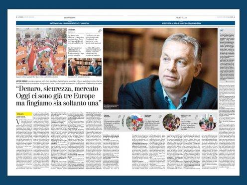 Orbano interviu La Stampa: migracija, saugumas, ekonomika, Salvini – dešinės lyderis