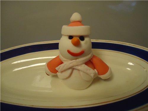 блюда новогодние, блюда Рождественские, рецепты, рецепты праздничные,  декор блюд новогодний, мастика кондитерская, снеговик, снеговик из мастики, стол новогодний, украшения новогодние, Новый год, Рождество,    декор из мастики,  мастика кондитерская, торт новогодний, украшения для торта, украшения из кондитерской мастики,, оформление тортов, оформление новогодних тортов, http://eda.parafraz.space/, Снеговик в шубке из мастики, как сделать снеговика из кондитерской мастики