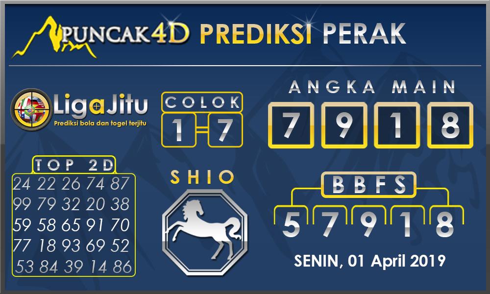 PREDIKSI TOGEL PERAK PUNCAK4D 01 APRIL 2019