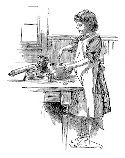 baking kitchen image digital girl clip art