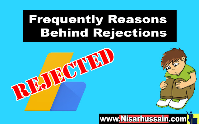rejection Adsense with solutions