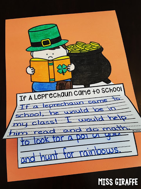 If A Leprechaun Came to School and so many other fun March writing prompts for first grade