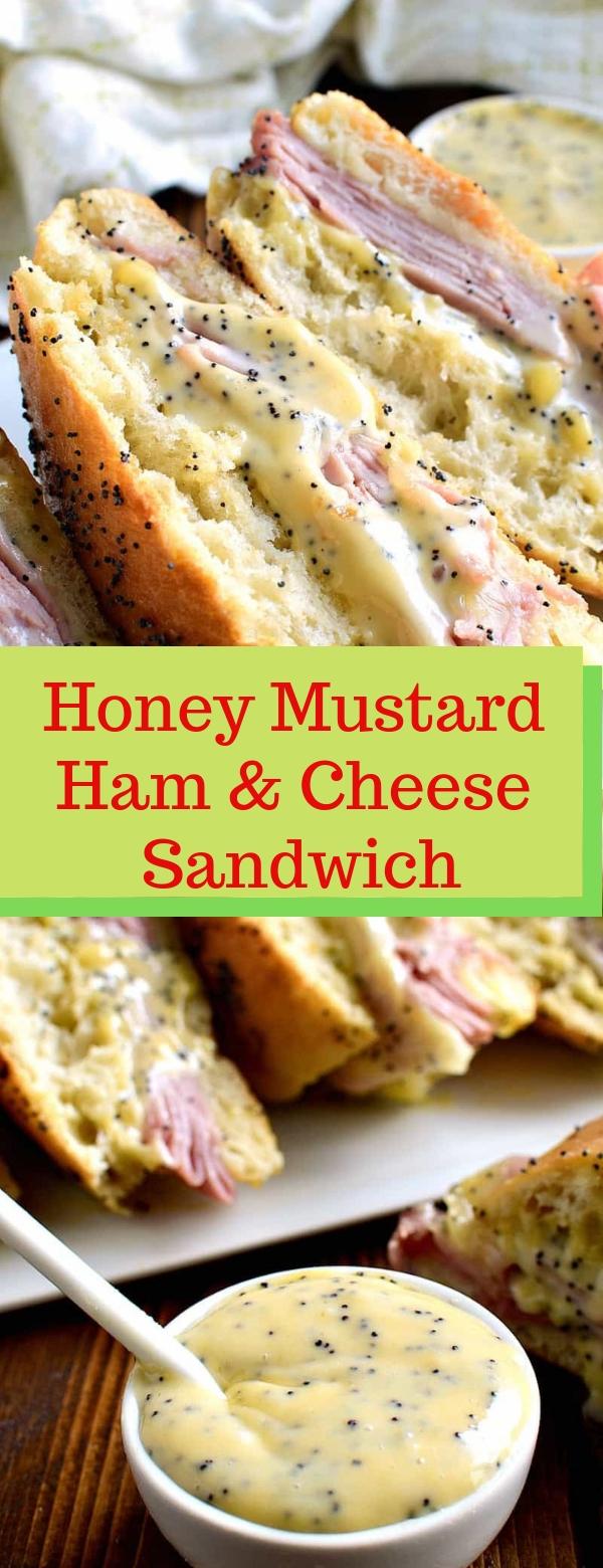 Honey Mustard Ham & Cheese Sandwich #Honey #Mustard #Ham #Cheese #Sandwich