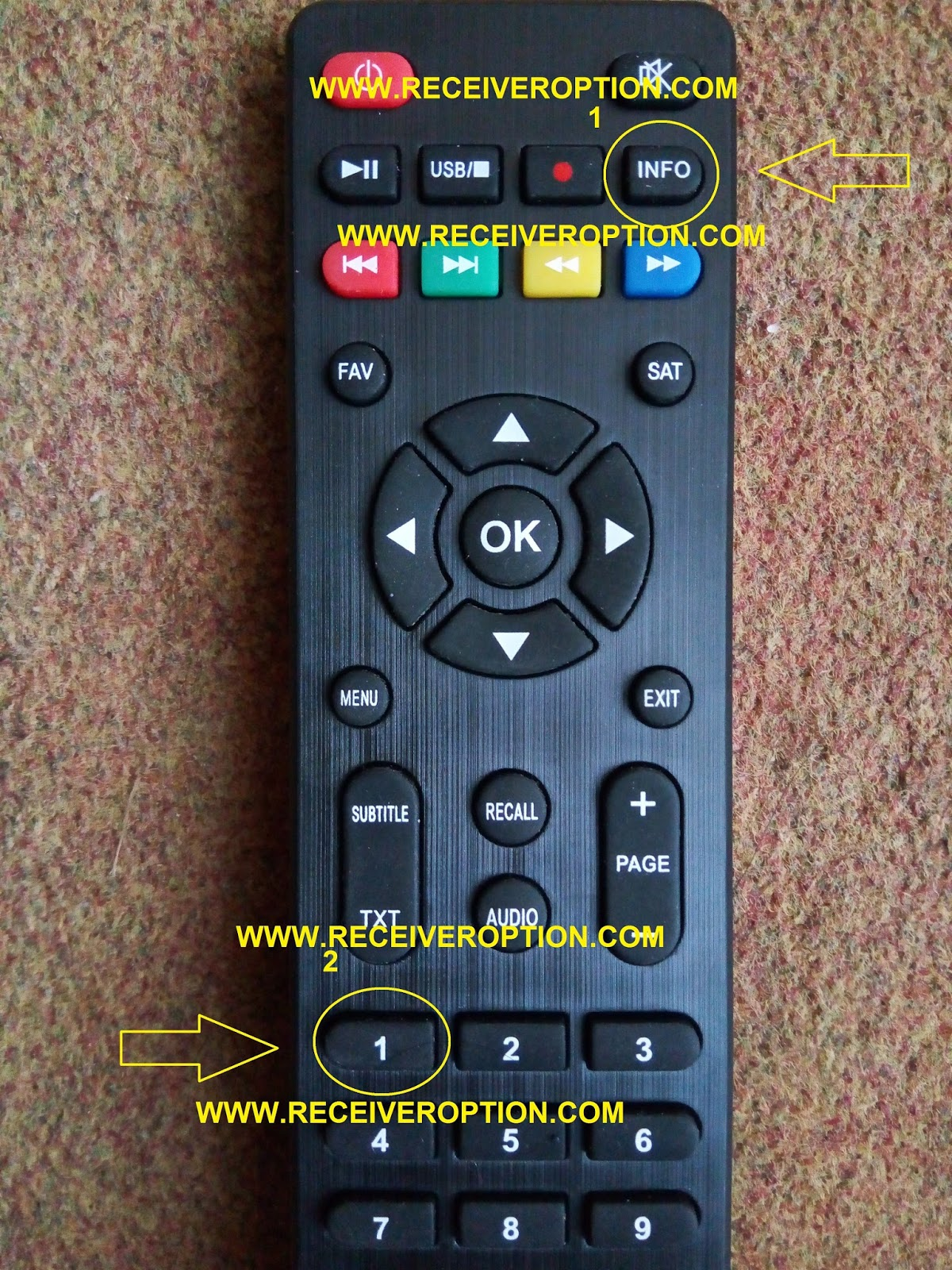 STAR TRACK SRT 550 GOLD HD RECEIVER BISS KEY OPTION - HOW TO ENTER