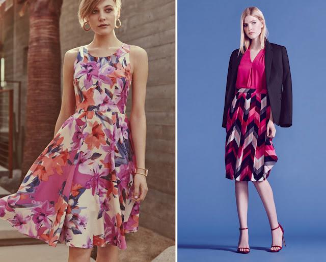 Сочетание красного и розового, фуксии и синего в одежде