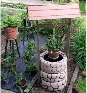 ideas para el jardín con neumáticos llantas usar llantas en el jardin