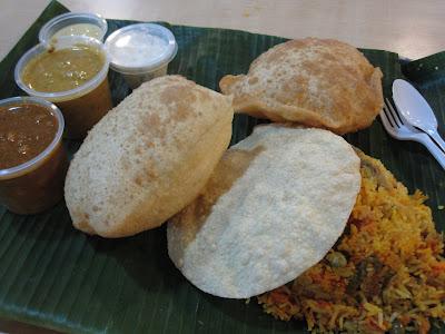 Komala's, briyani poori meal