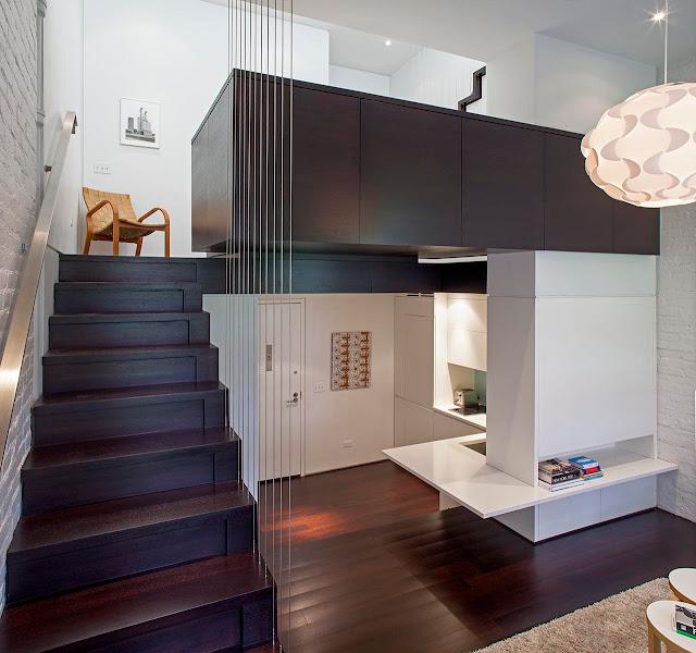 первый и второй этаж, компактного дома на два этажа