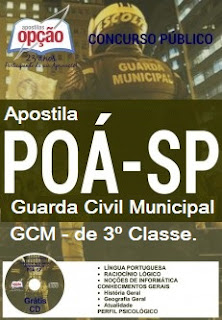 Apostila GCM de Poá SP 2016 Guarda Civil Municipal - SMSU de Poá-SP.