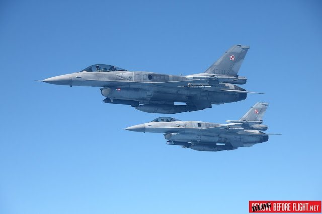 Polish F-16 NATO Baltic Air Policing